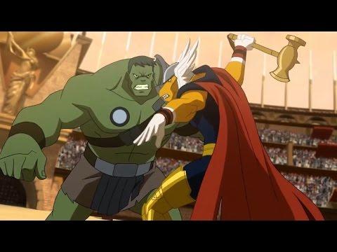 Planet Hulk: Hulk vs Beta Ray Bill scene