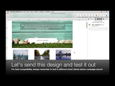 Test email design in Mail app, Outlook and Gmail - Awesome Mails Pro 3 Demo