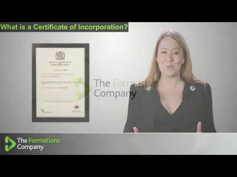 Certificate of Incorporation - The Formations Company