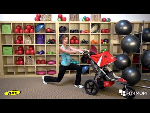 Alternating Stroller Lunge - Stroller Strides