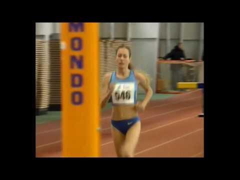 Оксана Райта здобуває 1 місце на 3000м. з перешкодами (Чемпіонат України 2017 у приміщенні. (Суми 19.02.2017)