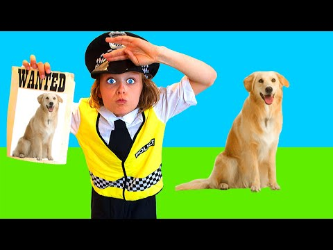 LOST DOG FOR BIGGY THE POLICEMAN Pretend Play w The Norris Nuts