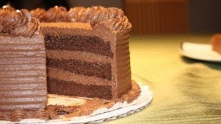 Learn how to make a moist and delicious chocolate ganache cake. This can also be a chocolate mousse cake. This video ...