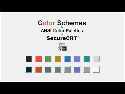 SecureCRT Color Schemes & ANSI Color Palettes