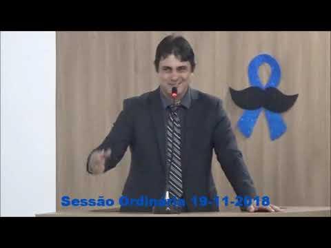 Sessão ordinária do dia 19/11/2018