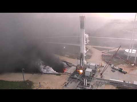 Landed Falcon 9 First Stage Test Firing_Legjobb vide�k: �rhaj�