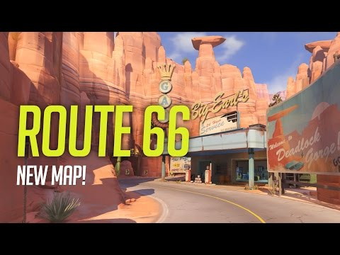 Overwatch - Route 66 Gameplay - NEW Escort Map!
