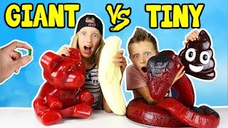 Video GIANT GUMMY vs TINY GUMMY!!! MP3, 3GP, MP4, WEBM, AVI, FLV Juli 2018