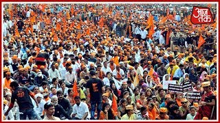Maratha Kranti Morcha Shows Its Strength In Mumbai March