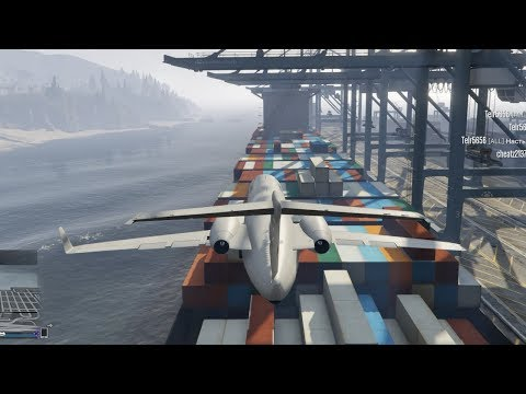 Landing Planes On A Container Ship - GTA V