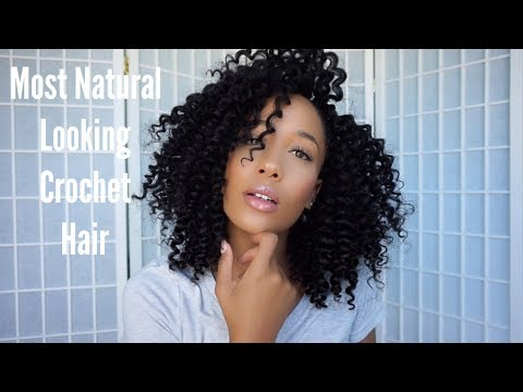 How To 1 Hour Natural Crochet Braids + Giveaway!! Freetress Wand Curl Ft. Samsbeauty
