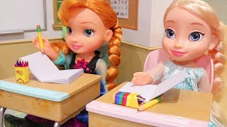 The New Class President ! Toys and Dolls Fun for Kids Playing with Elsa and Anna Toddlers | SWTAD