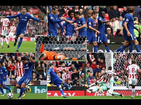 Stoke 0 Chelsea 4 match highlights: Alvaro Morata scores a sublime hat-trick as Antonio Conte's Blue