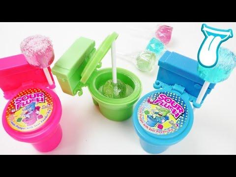 AUS DER TOILETTE ESSEN! Süßigkeiten aus der Toilette - Fun Candy Test Toilet Candy