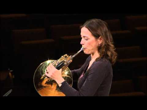 horn - Sarah Willis, horn player of the Berliner Philharmoniker, gives a master class for the YouTube Symphony Orchestra 2011 introducing the horn parts of Beethove...