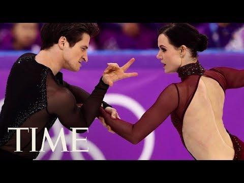 Tessa Virtue And Scott Moir's Ice Dancing Gold Medal Is An Internet Sensation | TIME (видео)
