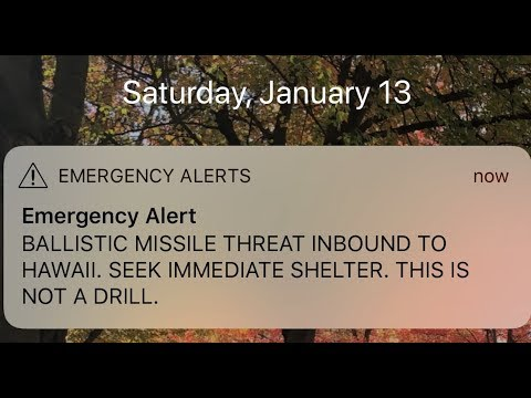Hawaii Ballistic Missile Warning