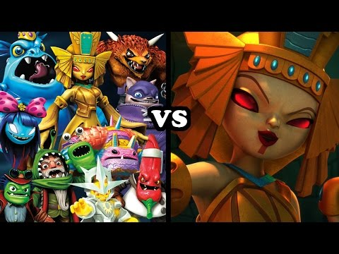 ALL EVOLVED DOOMRAIDERS VS GOLDEN QUEEN - Skylanders Trap Team