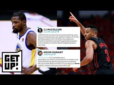 CJ McCollum calls Kevin Durant's Warriors decision 'soft' | Get Up! | ESPN