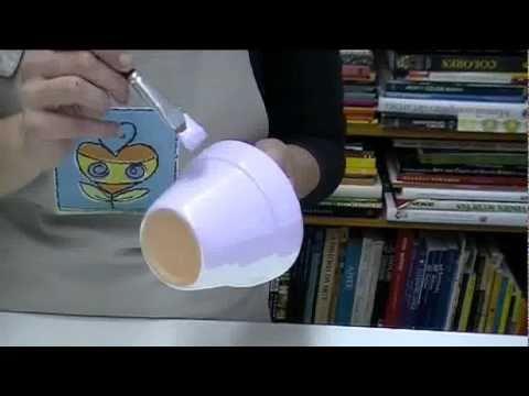 Miniaula de decoração de vaso de cerâmica para presente