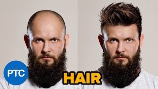 How to Change HAIRSTYLES in Photoshop - Realistic Hair Swap Tutorial