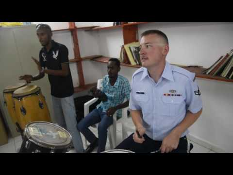 The U.S. Air Forces Central Command Band visited the Djiboutian Art Institute to make connections and build relationships through music.