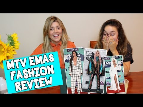MTV EMAs FASHION REVIEW w/KRISTEN MCATEE // Grace Helbig (видео)