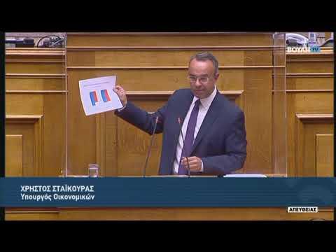 Χ.Σταϊκούρας(Υπουργός Οικονομικών)(Πρόταση Δυσπιστίας) (25/10/2020)