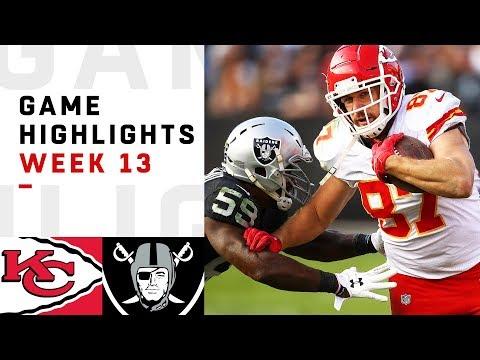 Chiefs vs. Raiders Week 13 Highlights | NFL 2018