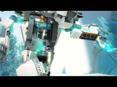 Vidéo LEGO Chima 70223 : Le robot ours des glaces