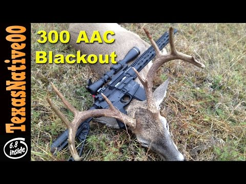 Stalk Hunting Whitetail Deer with the 300AAC Blackout AR15