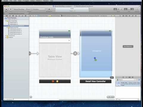 TutorialMaster - In this tutorial we create a Master Detail (Navigation Controller or Nested Table View application) using Storyboards in xCode 4.3.