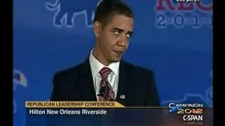 Video Obama Impersonator at Republican Leadership Conference MP3, 3GP, MP4, WEBM, AVI, FLV Juni 2018