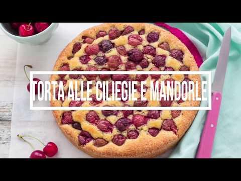 torta alle ciliegie e mandorle - ricetta