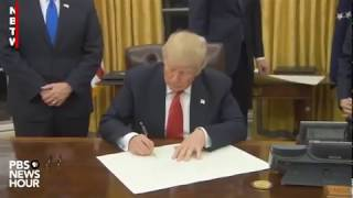The United States finally sign the TMEC.