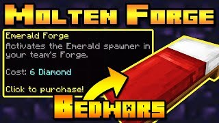 "SUBSCRIBE - https://www.youtube.com/user/ShireensPlayBUSINESS ENQUIRIES - ShireenPlays.Business@gmail.comIn this video I attempt the Emerald / Molten Forge Challenge! The aim of the challenge is to not go into the middle of the Bedwars map for Emeralds; instead you have to get emeralds at your base by upgrading your base forge with Diamonds!Thank you to MarioCraft100 on PlanetMinecraft for suggesting this challenge!Hypixel IP - MC.HYPIXEL.NET___FOLLOW ME:Twitter - https://twitter.com/ShireenPlaysPlanet Minecraft page - http://www.planetminecraft.com/member/shireen_m/___Music:"" "" Kevin MacLeod (incompetech.com) Licensed under Creative Commons: By Attribution 3.0http://creativecommons.org/licenses/by/3.0/"