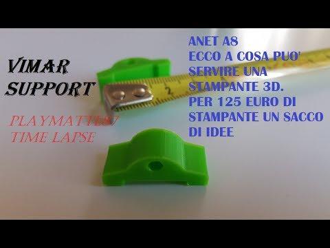 Supporto Scatola da incasso Vimar STAMPATO IN 3DE - time lapse e qualità di stampa