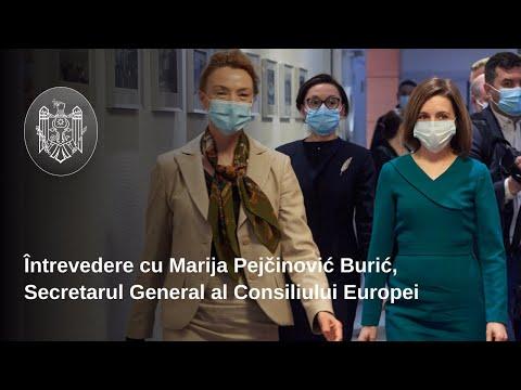 Președintele Maia Sandu și Secretarul General al CoE au participat la lansarea Planului de acțiuni al Consiliului Europei pentru Republica Moldova pentru anii 2021-2024
