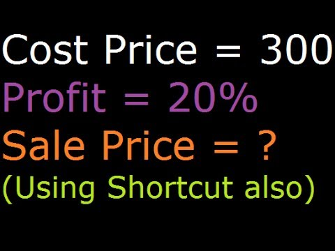 Find Sale Price when Profit Percentage and Cost Price is given