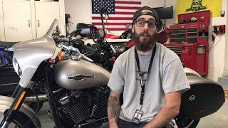 7. 2018 Harley-Davidson Softail Sport Glide Oil and Filter Change