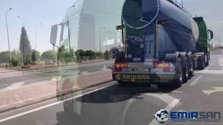 NEW EMIRSAN 3 AXLE CEMENT TRAILER TRUCK youtube video