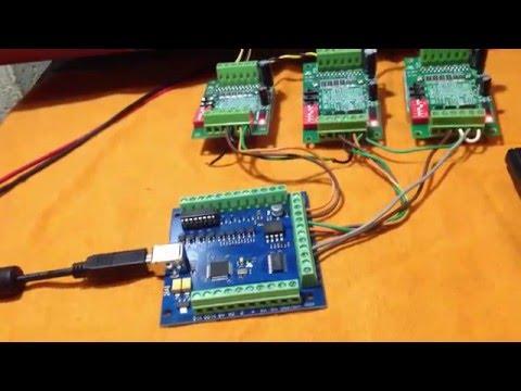 Kit CNC USB até 4 eixos  Compatível com Mach 3