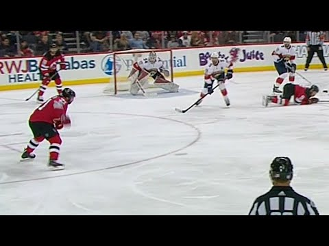 Video: Palmieri fires one-timer past Reimer to give Devils 2-0 lead