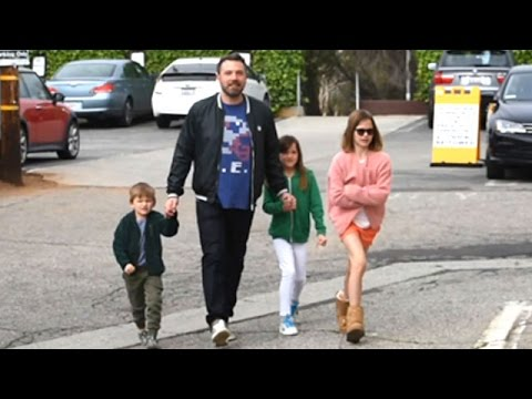Ben Affleck And His Children At Church