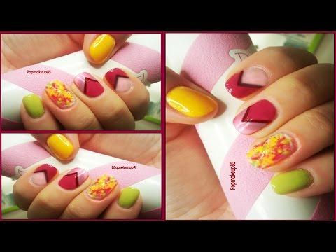 nail art per unghie corte autunnale, semplice ma d'effetto!