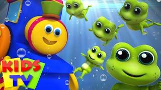Bob The Train | Five Little Speckled Frogs | Nursery Rhymes | Kids Songs | 3D Rhymes | Kids Tv