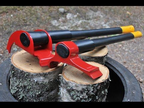modo alternativo per tagliare la legna in pochi secondi! incredibile!