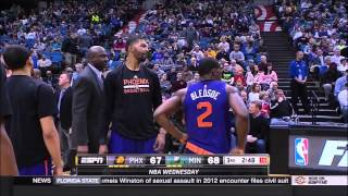 Marcus Morris technical and yelling at Jeff Hornacek (1-7-15)