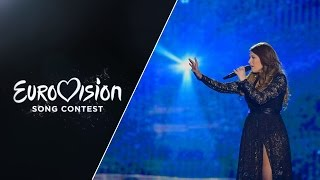 Live performance in the second Semi-Final of Warrior by Amber representing Malta at the 2015 Eurovision Song Contest