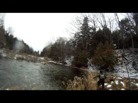 Fly Fishing for Steelhead on Christmas Eve 2012